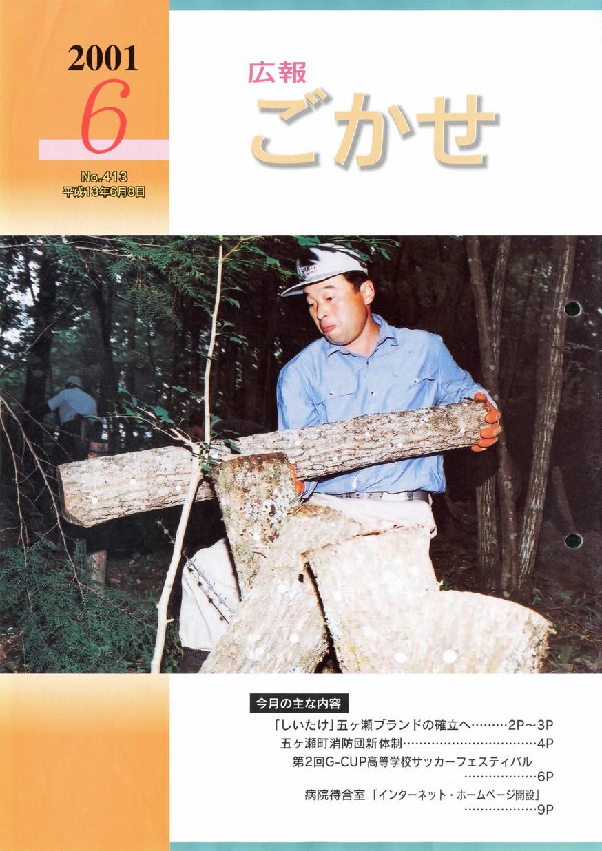 広報ごかせ No.413 2001年6月号の表紙画像